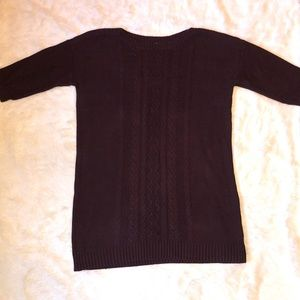 Old Navy Maroon Cable Knit Sweater Tunic size XXL